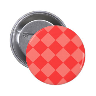 Diag Checkered Large - Red and Light Red Pinback Button