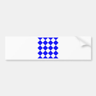 Diag Checkered Large - White and Blue Bumper Sticker