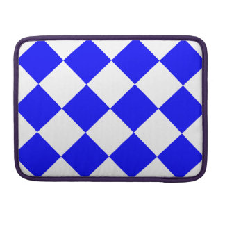 Diag Checkered Large - White and Blue MacBook Pro Sleeves