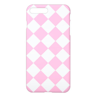 Diag Checkered Large - White and Cotton Candy iPhone 7 Plus Case