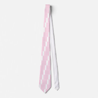 Diag Checkered Large - White and Cotton Candy Neck Tie