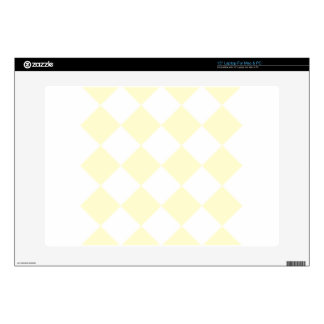 """Diag Checkered Large - White and Cream 15"""" Laptop Skins"""