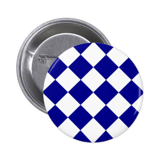 Diag Checkered Large - White and Dark Blue Buttons