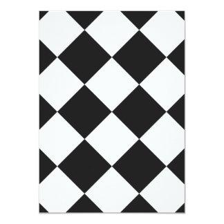 Diag Checkered Large - White and Dark Gray Card