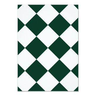 Diag Checkered Large - White and Dark Green Card