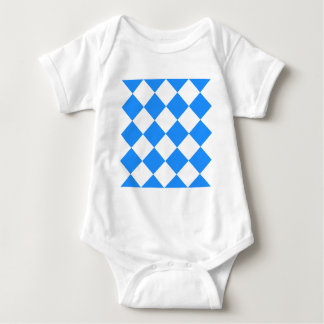 Diag Checkered Large - White and Dodger Blue Baby Bodysuit