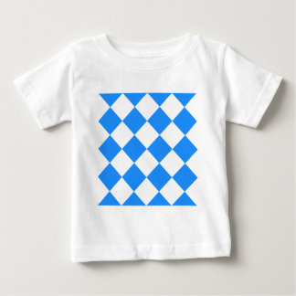 Diag Checkered Large - White and Dodger Blue Baby T-Shirt