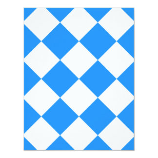 Diag Checkered Large - White and Dodger Blue Card