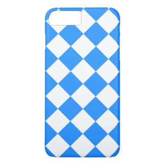 Diag Checkered Large - White and Dodger Blue iPhone 8 Plus/7 Plus Case
