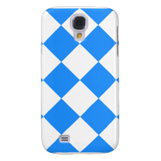 Diag Checkered Large - White and Dodger Blue Samsung Galaxy S4 Case