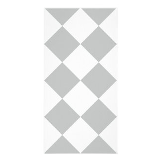 Diag Checkered Large - White and Light Gray Card