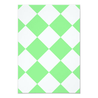 Diag Checkered Large - White and Light Green Card