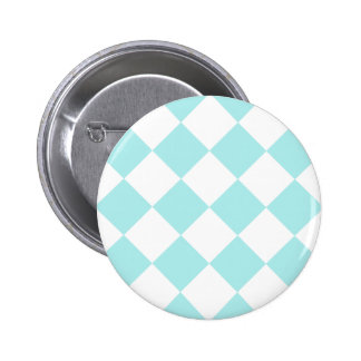 Diag Checkered Large - White and Pale Blue Button