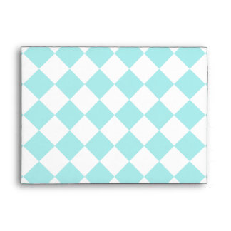 Diag Checkered Large - White and Pale Blue Envelope