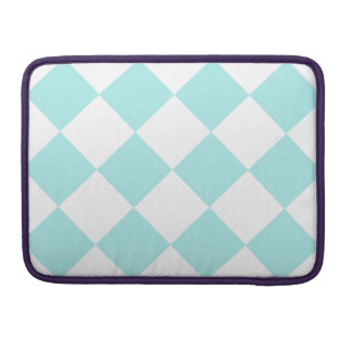 Diag Checkered Large - White and Pale Blue Sleeve For MacBook Pro