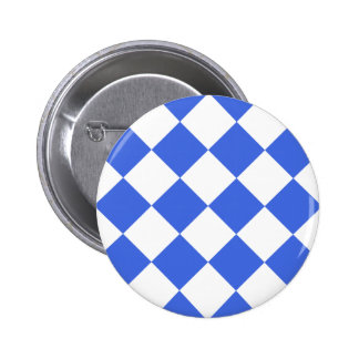 Diag Checkered Large - White and Royal Blue Buttons