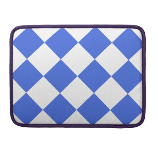 Diag Checkered Large - White and Royal Blue Sleeves For MacBooks