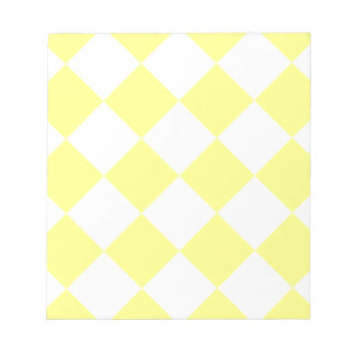 Diag Checkered Large - Yellow and Light Yellow Notepad