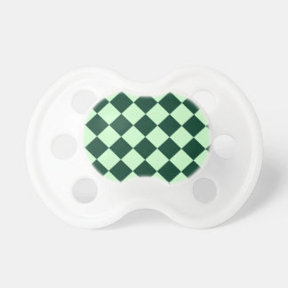 Diag Checkered - Light Green and Dark Green Pacifier