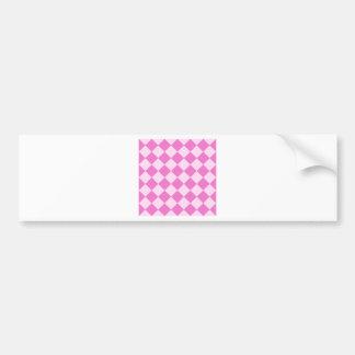 Diag Checkered - Light Pink and Dark Pink Bumper Sticker