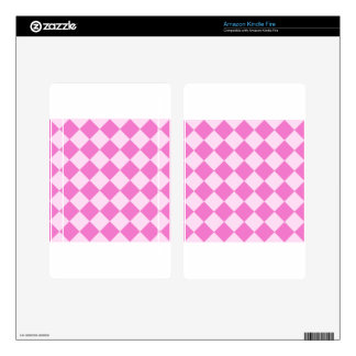 Diag Checkered - Light Pink and Dark Pink Decal For Kindle Fire