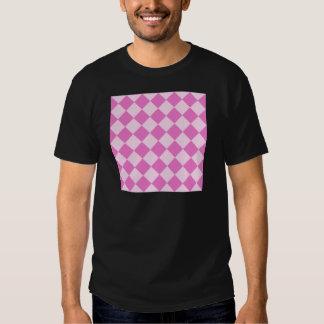 Diag Checkered - Light Pink and Dark Pink T-Shirt