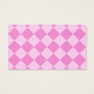 Diag Checkered - Pink and Dark Pink Business Card
