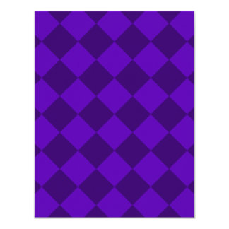 Diag Checkered - Violet and Dark Violet Card