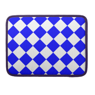 Diag Checkered - White and Blue Sleeves For MacBook Pro