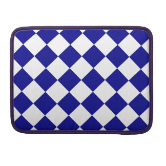 Diag Checkered - White and Dark Blue Sleeves For MacBook Pro