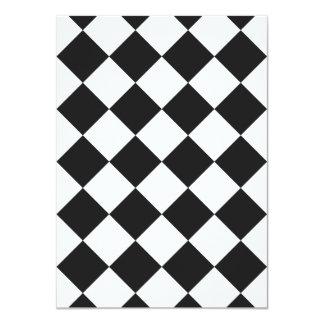 Diag Checkered - White and Dark Gray Card