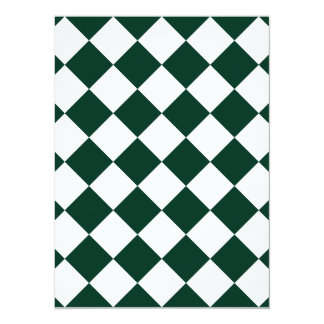 Diag Checkered - White and Dark Green Card