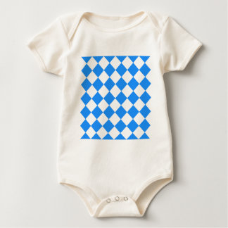 Diag Checkered - White and Dodger Blue Baby Bodysuit