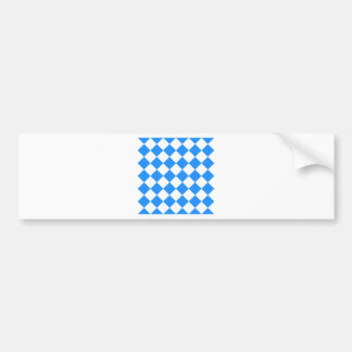 Diag Checkered - White and Dodger Blue Bumper Stickers