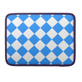Diag Checkered - White and Dodger Blue MacBook Pro Sleeve