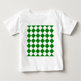 Diag Checkered - White and Green Baby T-Shirt