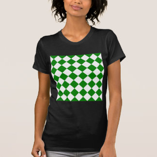 Diag Checkered - White and Green T-Shirt