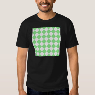 Diag Checkered - White and Light Green T-Shirt