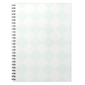 Diag Checkered - White and Pastel Green Notebook