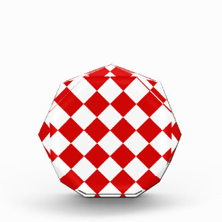 Diag Checkered - White and Rosso Corsa Award