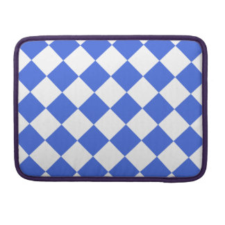 Diag Checkered - White and Royal Blue Sleeves For MacBook Pro
