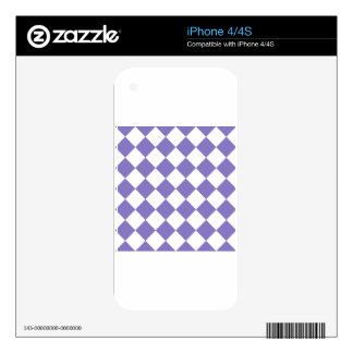 Diag Checkered - White and Ube Decals For The iPhone 4