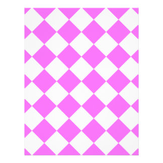Diag Checkered - White and Ultra Pink Letterhead