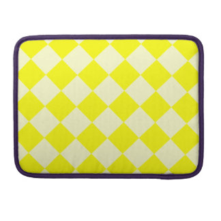 Diag Checkered - Yellow and Light Yellow Sleeve For MacBook Pro