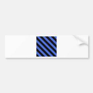 Diag Stripes - Black and Royal Blue Car Bumper Sticker