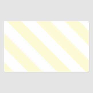 Diag Stripes - White and Cream Rectangular Sticker