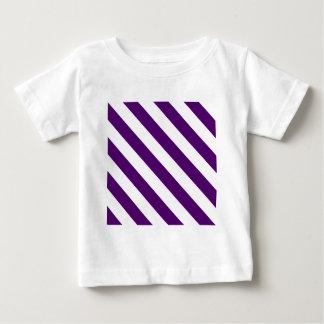 Diag Stripes - White and Dark Violet Baby T-Shirt