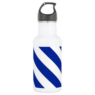 Diag Stripes - White and Imperial Blue Water Bottle