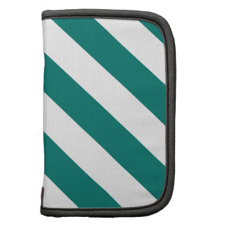 Diag Stripes - White and Pine Green Planners