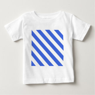 Diag Stripes - White and Royal Blue Baby T-Shirt